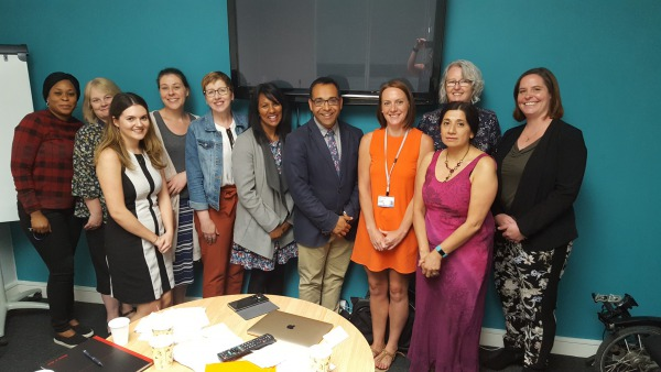 The Diagrama Adoption and Fostering team with Krish Kandiah of Home for Good